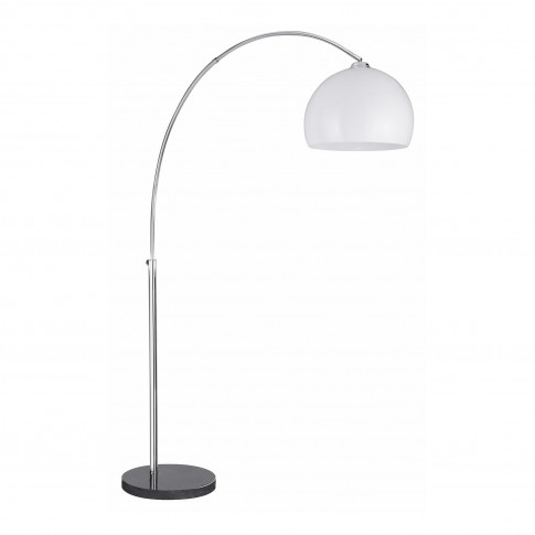 Arcs Floor Lamp With Marble Base & White Dome Shade