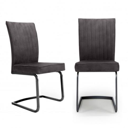 Shankar Marlin Cantilever Brown Dining Chair