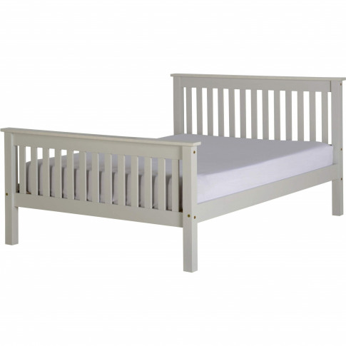 Seconique Monaco Double Bed Frame In Grey With High ...