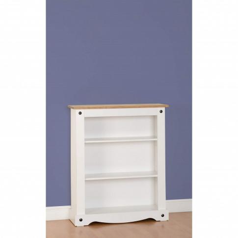 Small Bookcase In White & Pine - Corona