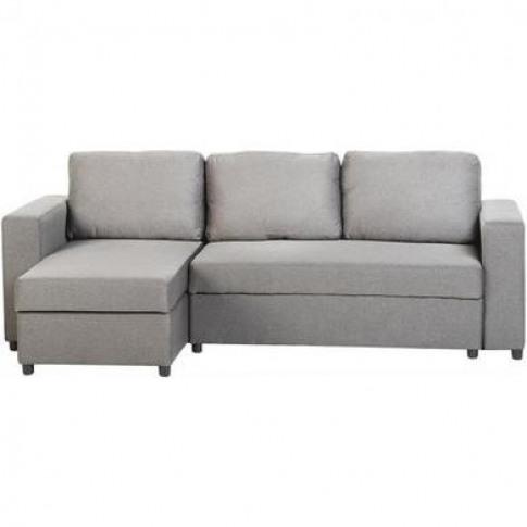 Seconique Dora Corner Sofa Bed In Light Grey Fabric