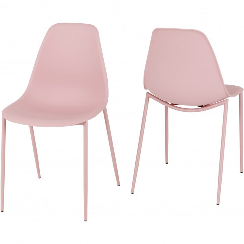 Lindon Pink Plastic Dining Chair's Set Of 2