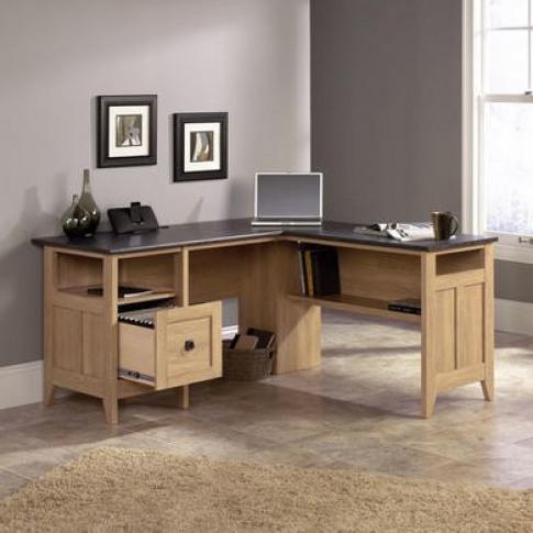 Teknik Office Oak Effect Corner Desk