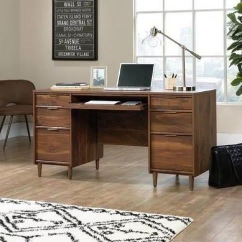 Teknik Office Clifton Place Walnut Executive Desk