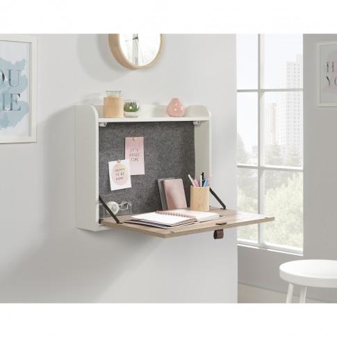 Teknik Office Avon Leather Handled Floating Wall Desk