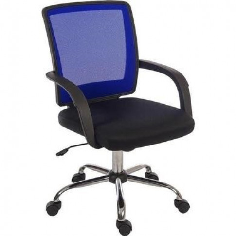 Blue & Black Mesh Office Chair - Teknik Office Star