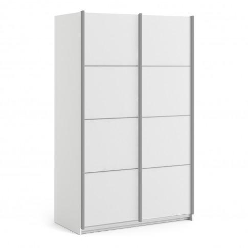 Verona White 2 Door Sliding Wardrobe - 120cm