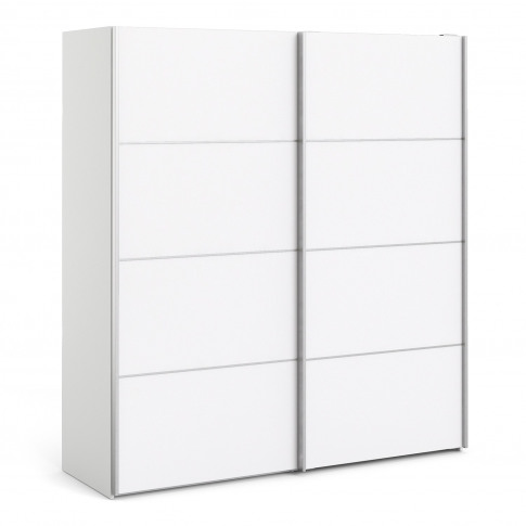 Verona White 2 Door Sliding Wardrobe With 5 Shelves ...