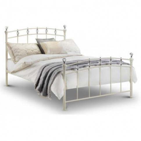 Julian Bowen Sophie Kingsize Bed In Stone White