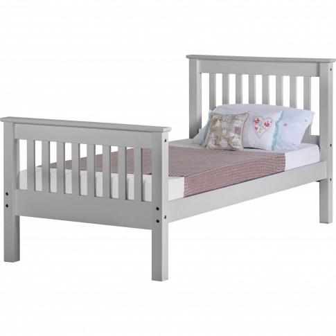 Seconique Monaco Single Bed Frame In Grey