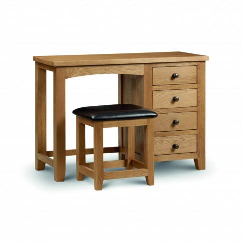 Julian Bowen Marlborough Single Pedestal Dressing Table