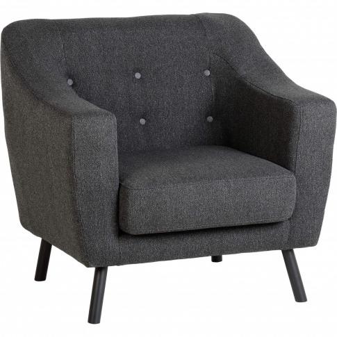 Seconique Ashley Armchair In Dark Grey Fabric