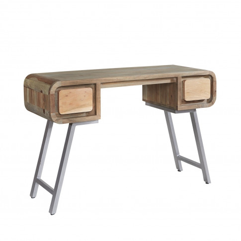 Aspen Solid Wood Desk With Retro Finish - Industrial...