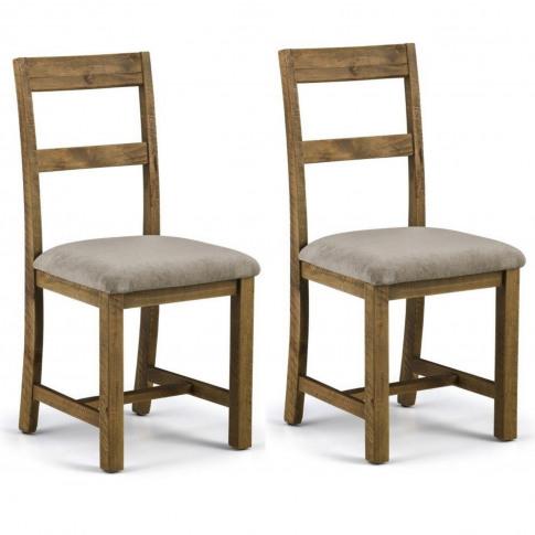 Julian Bowen Aspen Pair Of Rustic Dining Chairs
