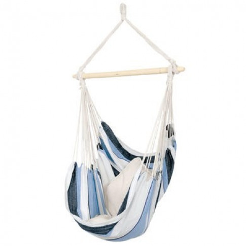 Blue Stripe Fabric Swing Chair Hammock