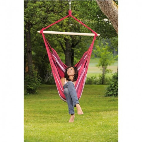 Pink Garden Hammock - Fabric Swing Chair