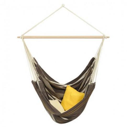 Amanaza Garden Hammock - Brown Fabric Swing Chair Ha...