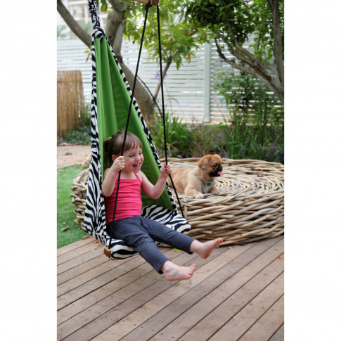 Kids Zebra Garden Hammock - Fabric Swing Chair
