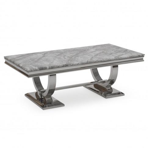 Vida Living Arianna Grey Marble Coffee Table