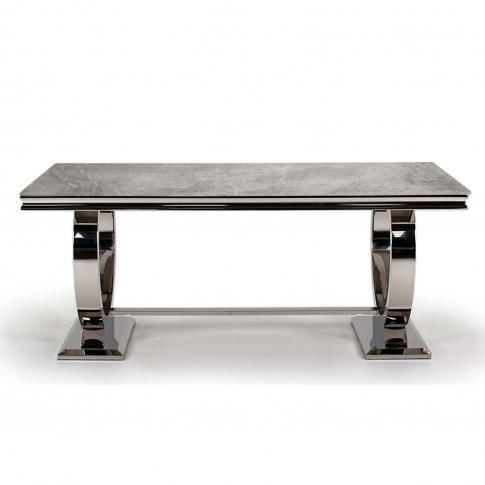Arianna Grey Marble Dining Table 200cm - Vida Living...