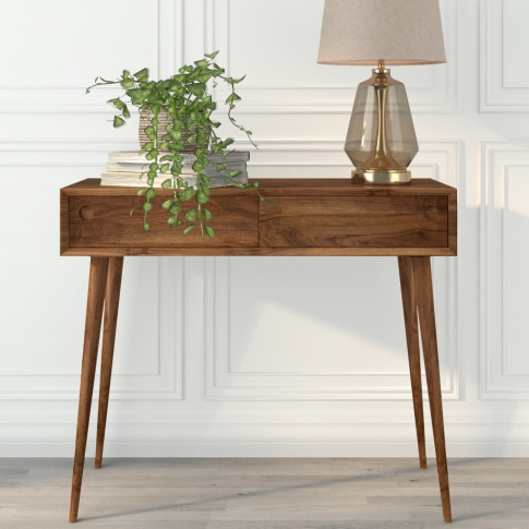 Walnut Office Desk With Drawers - Briana