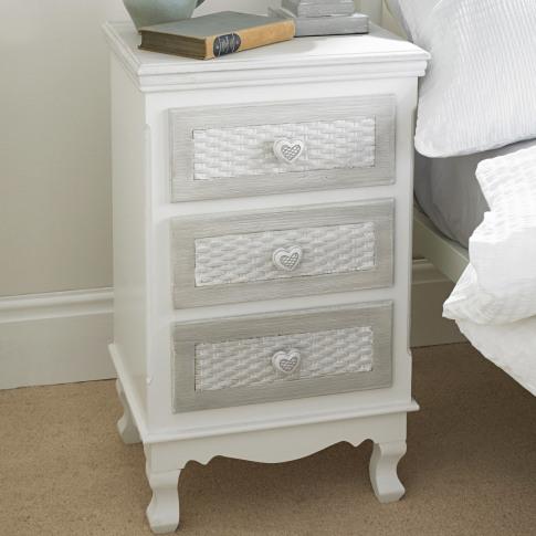 Lpd Brittany 3 Drawer Bedside Cabinet