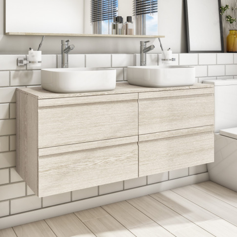 1200mm Wall Hung Vanity Unit With Double Dover 385mm...