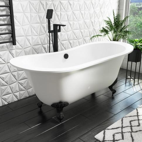 Park Royal Freestanding Double Ended Bath Matt White...