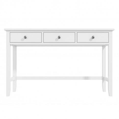White Office Desk With Storage - Harper Range