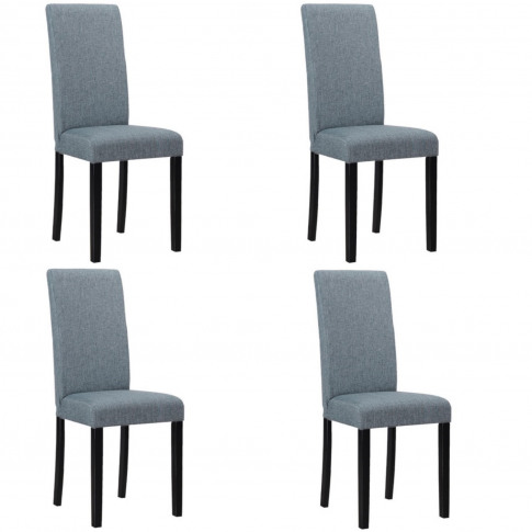 4 New Haven Slate Grey Dining Chairs With Black Legs