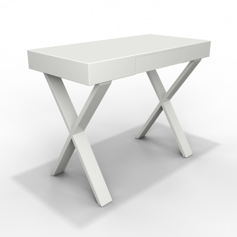 White Gloss Dressing Table With Drawer - Roxy