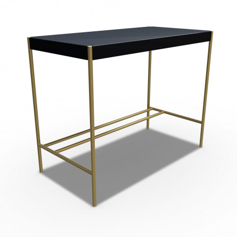 Black Dressing Table With Gold Legs - Roxy