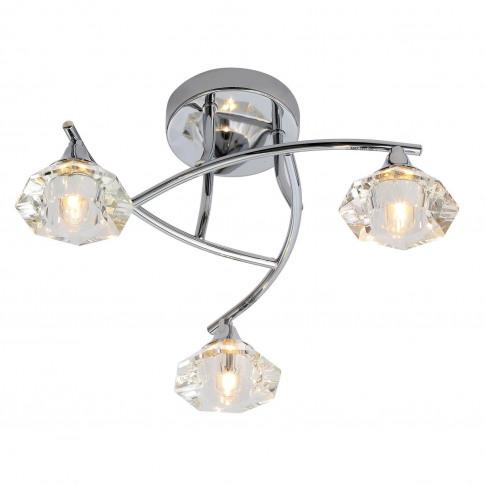 Reena 3 Light Flush Ceiling Light Chrome