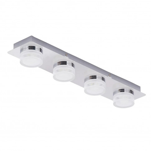 Amalfi 4 Light Bar Led Flush Chrome Ceiling Light