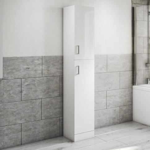1900mm Tall Boy Storage Unit White - Classic