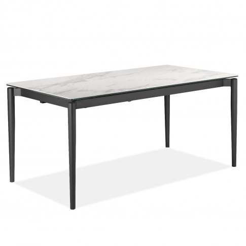 Extendable White Ceramic Marble Dining Table - Seats 6-8 - Camilla