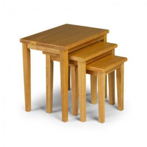Julian Bowen Cleo Oak Effect Nest Of Tables