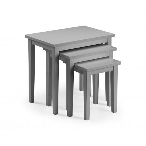 Julian Bowen Cleo Nest Of Tables - Grey Finish