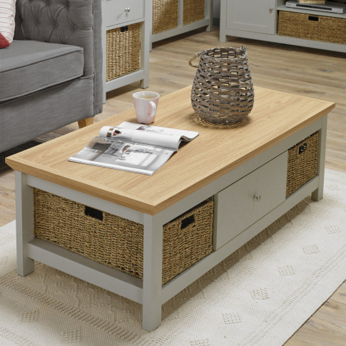 Lpd Cotswold Coffee Table In Grey