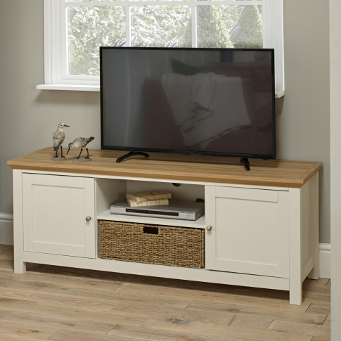 Lpd Cotswold Tv Cabinet In Cream - Tv's Up To 55