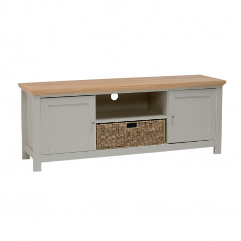Lpd Cotswold Tv Cabinet In Grey - Tv's Up To 50