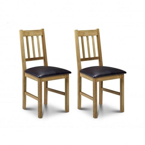 Julian Bowen Coxmoor Oak Pair Of Dining Chairs