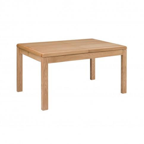 Julian Bowen Curve Oak Extendable Dining Table