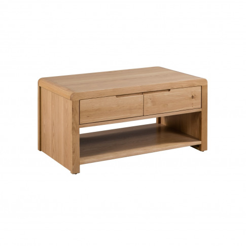 Solid Oak Coffee Table With Curved Edges - Julian Bowen