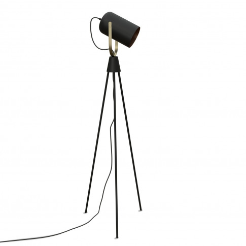 Tripod Floor Lamp In Black & Brass - Fernie