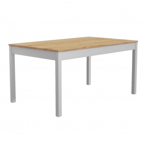 Grey & Solid Pine Dining Table - Seats 6 - Emerson