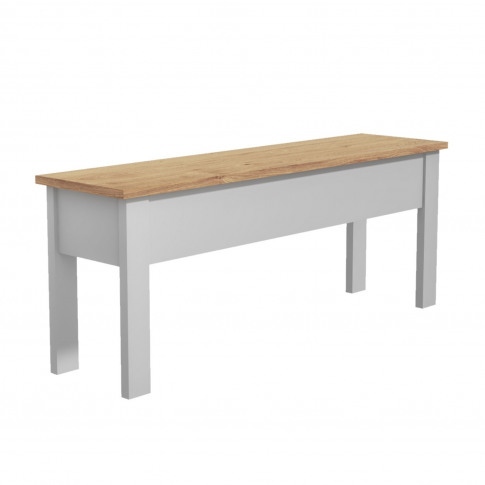 Grey Dining Bench With Storage & Pine Top - Seats 2 ...