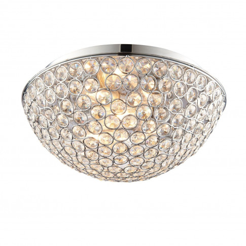 Ceiling Light With Crystals & Flush Fitting - Chryla