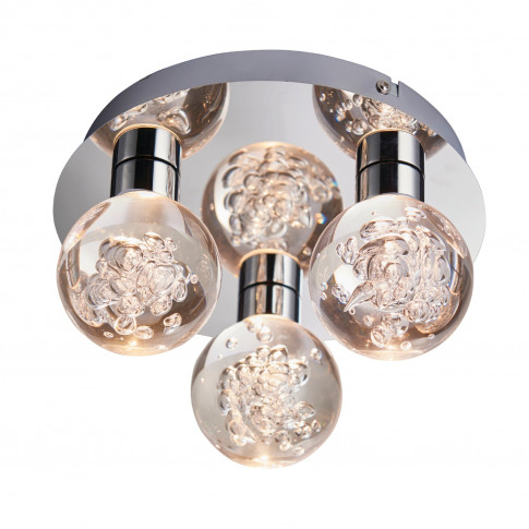 Versa Bathroom Ceiling Light With Bubbled Finish
