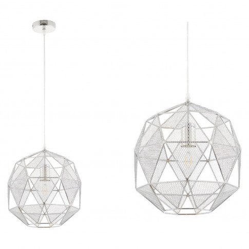 Geometric Ceiling Pendant Light In Chrome - Armour